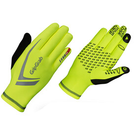 GripGrab Running Expert Hi-Vis Guantes Invierno Touchscreen, fluo yellow